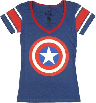Captain America Logo Jersey Baby Tee
