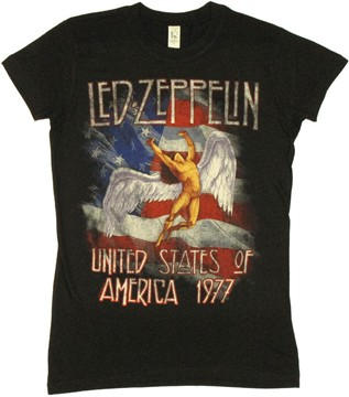 Led Zeppelin American Flag Baby Tee