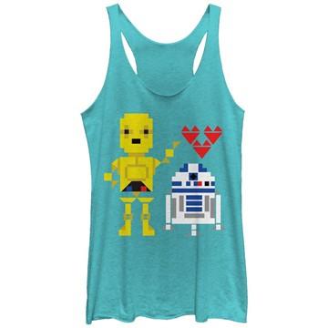 Star Wars R2D2 C3PO Love Tank Top Juniors T-Shirt