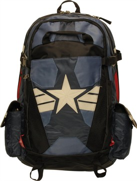 Marvel Comics Captain America Logo Deluxe Backpack