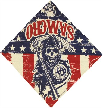 Sons of Anarchy Stars Stripes Bandana