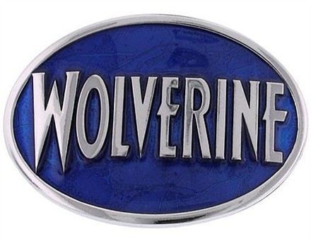 X Men Wolverine Name Oval Belt Buckle