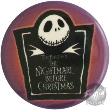 Nightmare Before Christmas Marquee Button