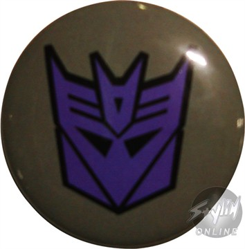 Transformers Decepticon Symbol Button