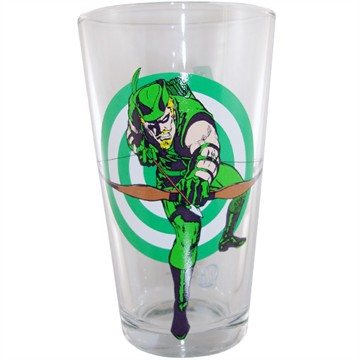 Green Arrow Target Glass