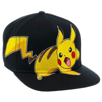 Pokemon Pikachu Embroidered Snap Closure Hat