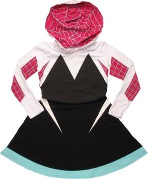 Marvel Comics Spiderman Spider-Gwen Costume Skater Hoodie