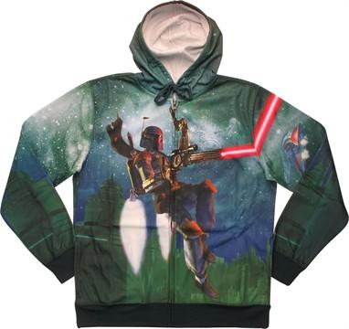 Star Wars Boba Fett Flying Sublimated Hoodie