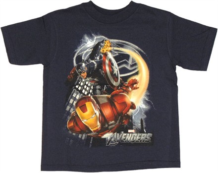 Avengers Movie Flight Juvenile T Shirt
