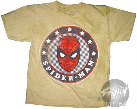 Spiderman Star Circle Juvenile T-Shirt