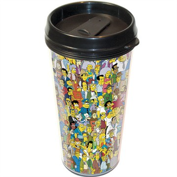 Simpsons Springfield Travel Mug