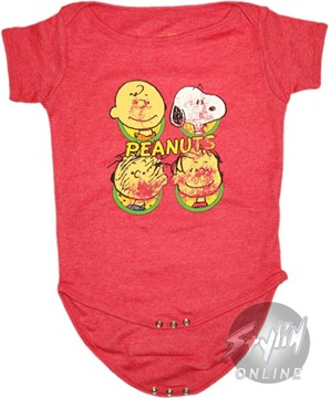 Peanuts Vintage Faces Snap Suit