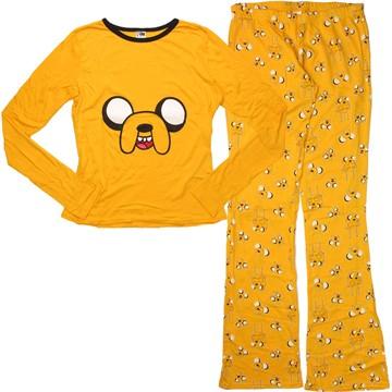 Adventure Time Jake Long Sleeve Shirt and Pants Junior Pajama Set