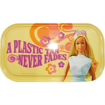 Barbie Plastic Tan Magnetic Tin Sign