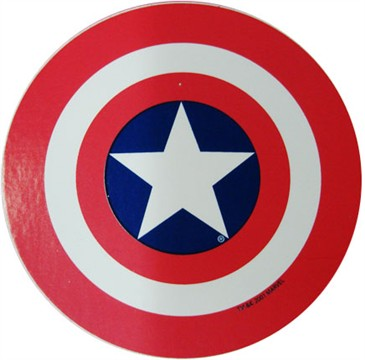 Tattoos Superman Shields on Captain America Shield Sticker