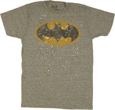 Batman Logo Splatter Paint T Shirt Sheer