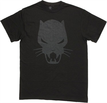 Black Panther Subtle Logo T Shirt