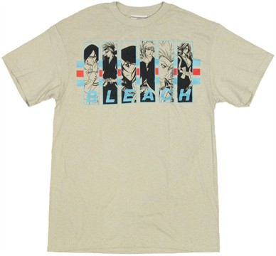 Fye bleach blue duotone group with color ichigo t shirt for Bleach and tone shirt