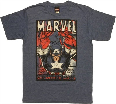 Captain America Super Soldier T Shirt Sheer