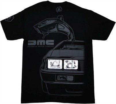 DeLorean Foil T Shirt Sheer