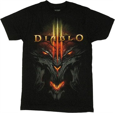 Diablo 3 Demon Logo T Shirt Sheer