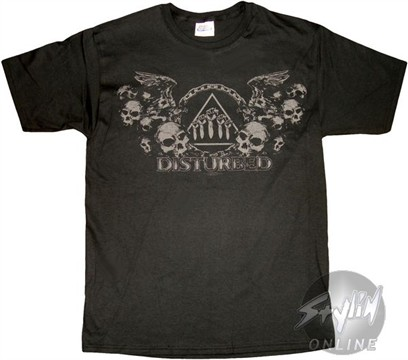 Disturbed Skull Wings T-Shirt