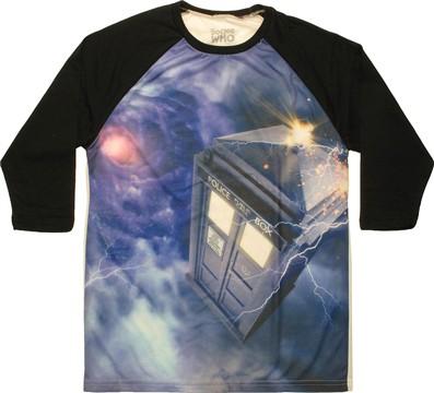 Doctor Who TARDIS Space Vortex Dyed Raglan T-Shirt