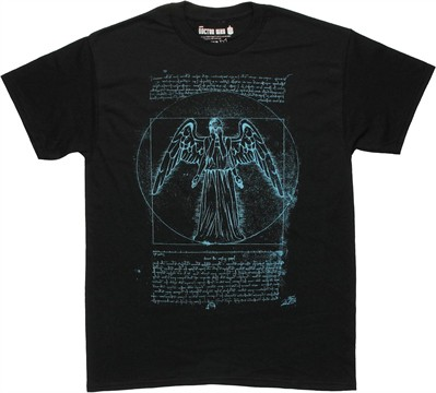 Doctor Who Vitruvian Angel T Shirt