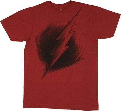 Flash Logo Sketch T Shirt Sheer