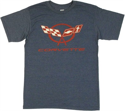 General Motors Corvette Emblem T Shirt Sheer