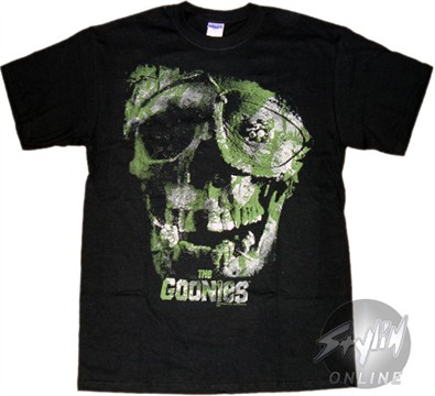 Tattoshirts on Goonies Camo Skull T Shirt