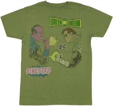 Green Lantern Sinestro T Shirt Sheer