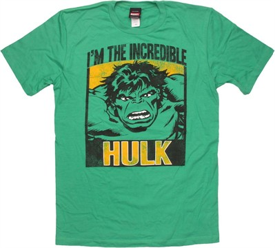 Incredible Hulk Block Portrait T Shirt Sheer