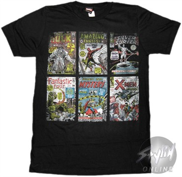 Marvel Comics Covers T-Shirt Sheer