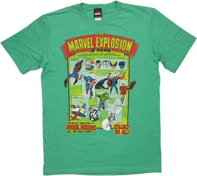 Marvel Explosion T Shirt Sheer