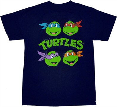 Ninja Turtles Heads T Shirt