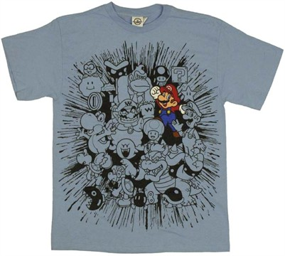t shirt nintendo mario montage The Ultimate Top 50 Video Games Shirts