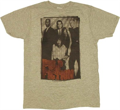 Overall rating for pulp fiction group t shirt sheer