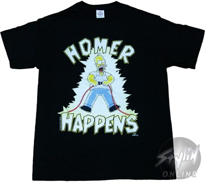 Simpsons homer happens t shirt for Simpsons t shirts online