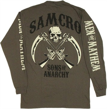 Sons of Anarchy Men of Mayhem Long Sleeve T Shirt