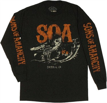 Sons of Anarchy Orange SOA Long Sleeve T Shirt