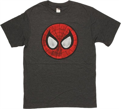 Spiderman Mask Logo T Shirt Sheer