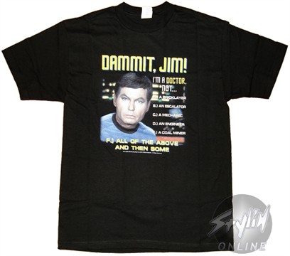 Star Trek Dammit Jim T-Shirt