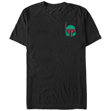 Star Wars Boba Helmet Badge T-Shirt
