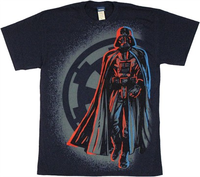 Star Wars Red Blue Vader T Shirt