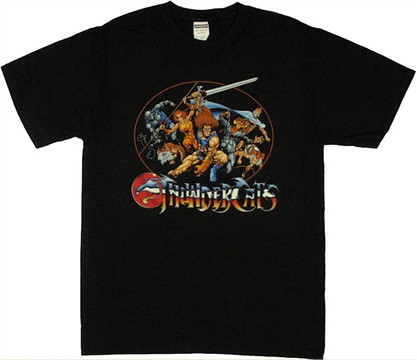 Thundercat Merchandise on Thundercats Oval Group T Shirt