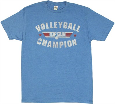 Top Gun Volleyball Champion T Shirt SheerTop Gun Volleyball Shirt