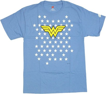Wonder Woman Starfield Logo T Shirt