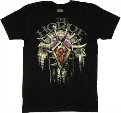 World of Warcraft Horde 3D Crest T Shirt Sheer