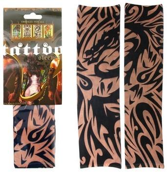 Tribal Dragon Sleeve Tattoo
